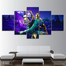 5 Piece GAMING Glider Poster on Canvas for Home Decor F5V2