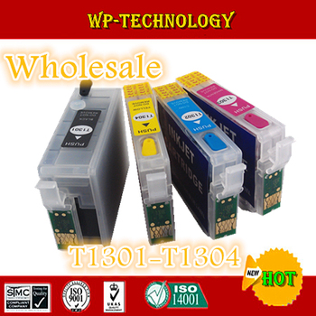 [Wholesale] Full ink Refill cartridge suit for T1301 -T1304,suit for Epson SX525WD/SX535WD/620FW/BX925FW/B42WD/BX525WD,ARC chips