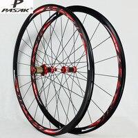 700C Road Bike Bicycle Carbon Fiber hub Sealed Bearings Wheel Straight Pull V/C Brakes 30MM Rim Wheels free