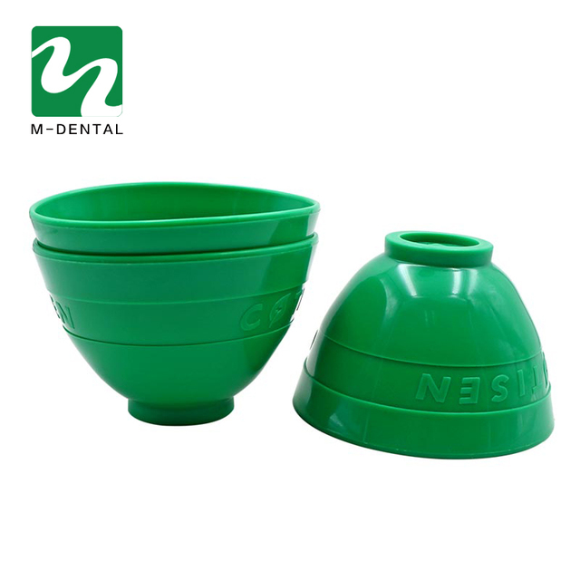 1 pc Green Dental Rubber Mixing Bowl Plastic Lab Silicon Bowl For Oral Hygiene Tool Free Shipping
