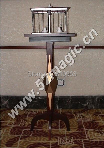 Floating Table With Appearing Bird Cage Table - Deluxe  - Magic Trick,Stage Magic,Close Up magic ,Floating Magic,Accessories light heavy box stage magic floating table close up illusions accessories mentalism magic trick gimmick