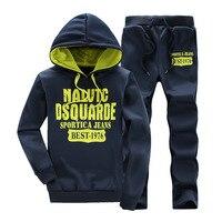 Men's Tracksuits Outwear Hoodies Sportwears Sets clothes Male printing Sweatshirts Men Set Clothing+Pants M 4XL size Wholesale