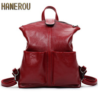 Women Backpack High Quality PU Leather Mochila Escolar School Bags For Teenagers Girls Top Handle Large