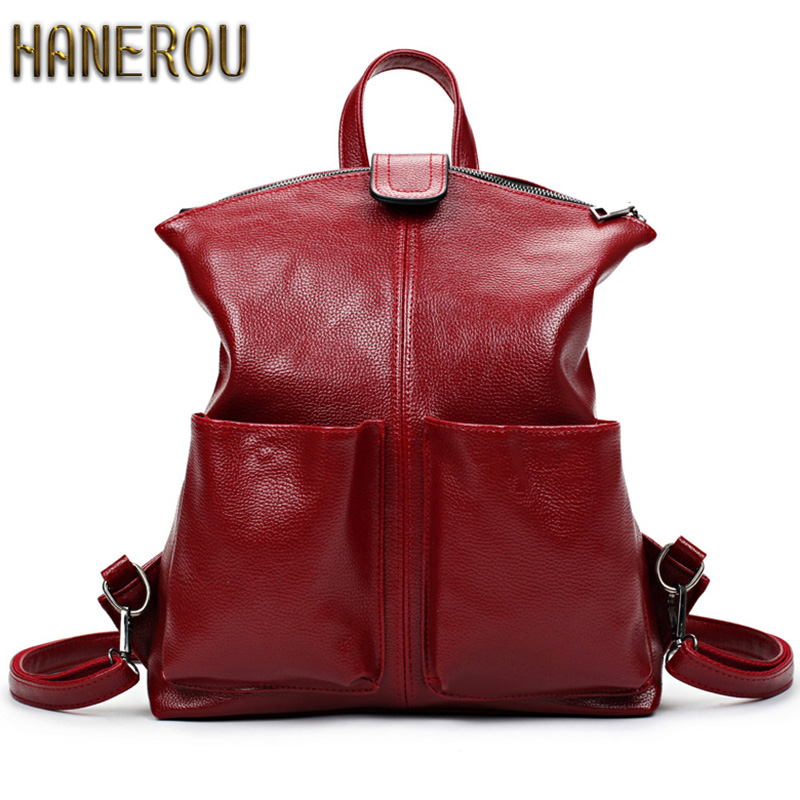 Women Backpack High Quality PU Leather Mochila Escolar School Bags For Teenagers Girls Top-Handle Large Capacity Student Package women vintage backpack high quality pu leather mochila escolar school bag for teenagers girls top handle casual large backpacks