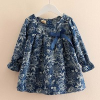 Baby Girl Clothes 2018 Cotton Bow Print Girls T Shirt Tops Tee Children Clothing Long Sleeve