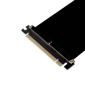 Image 4 - Cable de extensión de cinta PCI Express x16 a PCIE x16 macho a hembra Adaptador/elevador de tarjeta gráfica PCI E PCIE3.0 PCI E 16x para minería