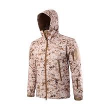 Outdoor Tactical Velvet Jacket Men Hiking Fleece Jacket Camo