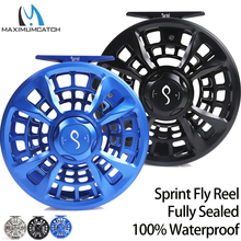 Maximumcatch Maxcatch SPRINT Fly Fishing Reel Expertปิดผนึกอย่างเต็มที่ 100% กันน้ำCNC Machined Fly Reel