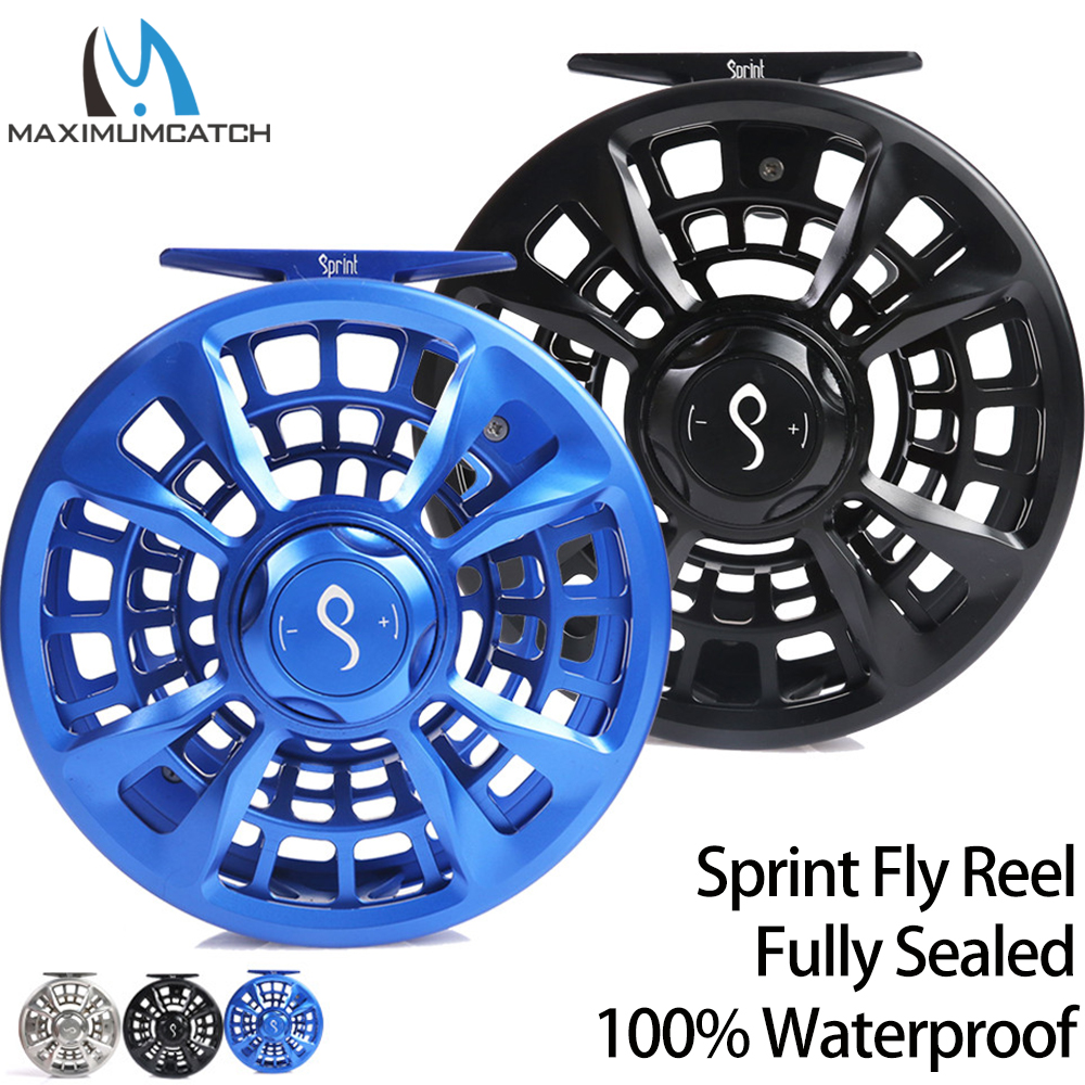 Maximumcatch Maxcatch SPRINT Fly Fishing Reel Expert Fully Sealed 100% Waterproof CNC Machined Fly Reel