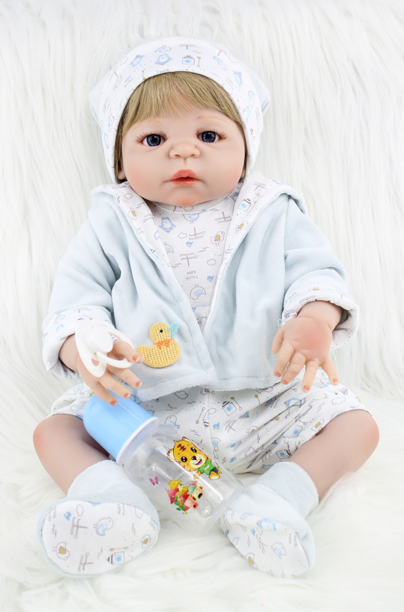 55cm Full Body Silicone Reborn Boy Baby Like Real Doll Toys 22inch Newborn Boy Babies Dolls Girl Birthday Gift Kids Bathe Toy 22 inch silicone dolls reborn boy 55cm full body realistic reborn baby doll bathed doll toy in soft blue clothes birthday gifts
