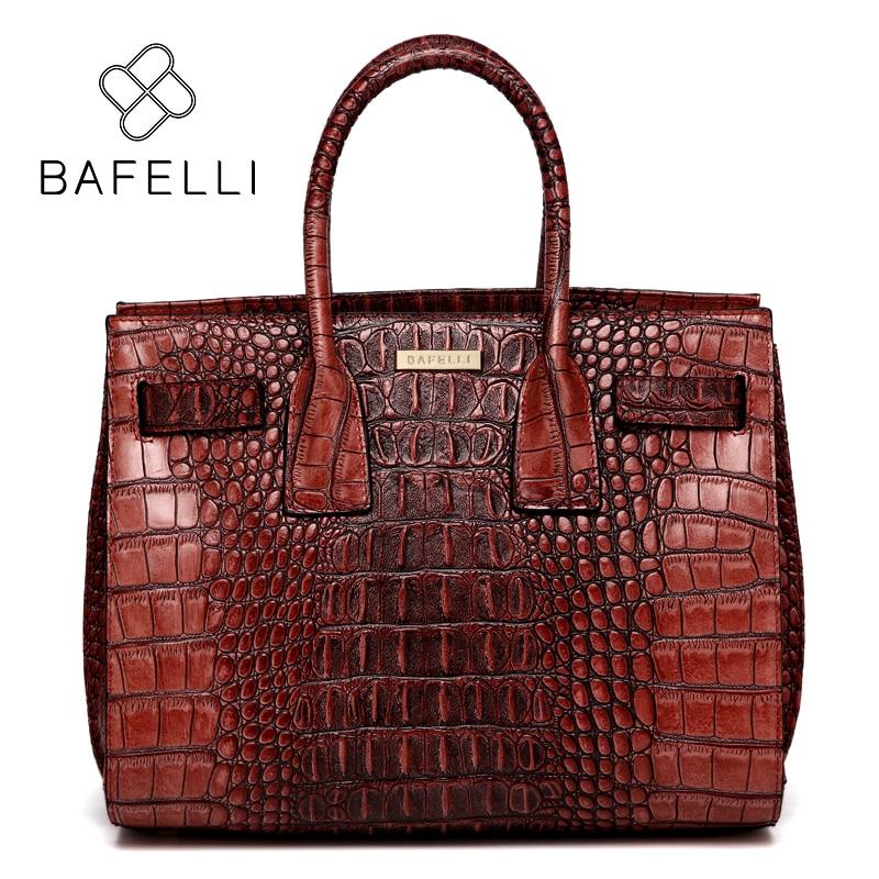 BAFELLI bags for women 2017 crocodile split leather shoulder bag alligator luxury handbag bolsa feminina women messenger bag усиленная рама riho claudia 2003042413060