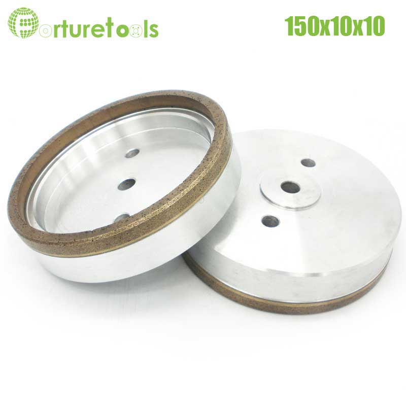 1pc Full rim 4# diamond wheel for glass edger straight line machine Dia150x10x10 Inner Diameter 12/22/50 grit 240# BL014 4 inch 6 inch straight cup diamond grinding wheel for glass edger straight line double edging beveling machine m009 page 5