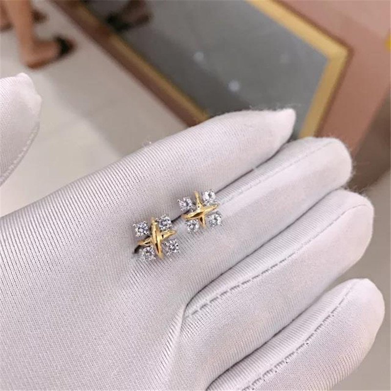 TIFF 925 Sterling Silver Stud Earrings, square yellow zircon. Whole body sterling silver aristocratic luxury ladies giftTIFF 925 Sterling Silver Stud Earrings, square yellow zircon. Whole body sterling silver aristocratic luxury ladies gift