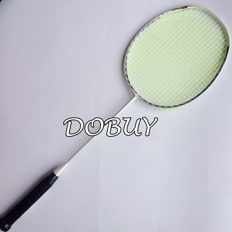 1 pc free shipping pure white 4U 82g light badminton rackets,badminton.3D frame badminton racquet