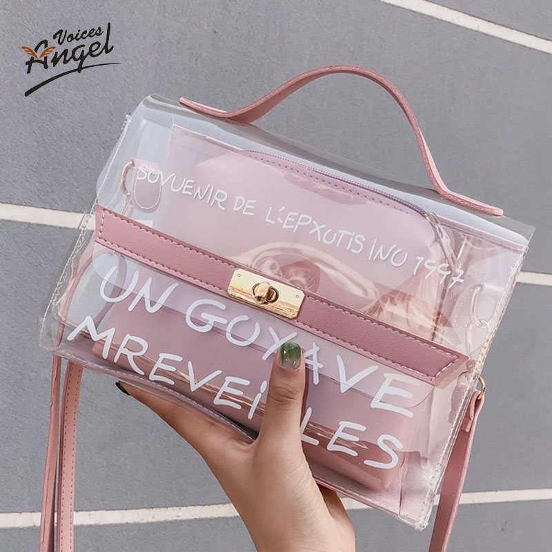 Women Handbag Transparent Jelly Bag Bolsa Feminina Messenger Borsa Donna Fashion Malas De Senhora Messger Bags Shoulder Torebka