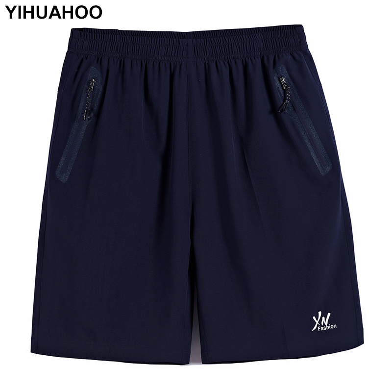 YIHUAHOO Plus Size 8X 9XL 10XL Brand Casual Summer Shorts Men Thin Breathable Quick Dry Board Shorts Elastic Waist XYN-8860