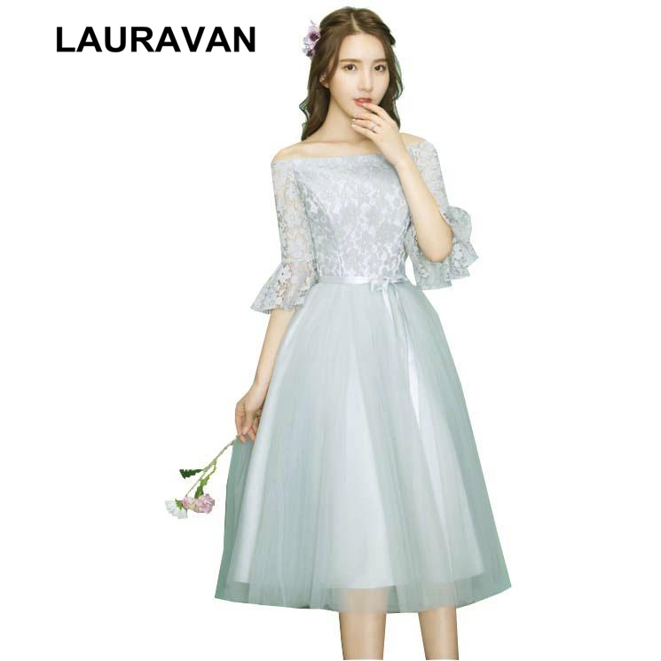 gray tulle special xl off the shoulder party dresses tea length ball ...