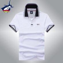 Nova marca Famosa Tace   Shark polo camisa Verão estilo Europeu camisa dos  homens do polo 6d5ab1a4204a4