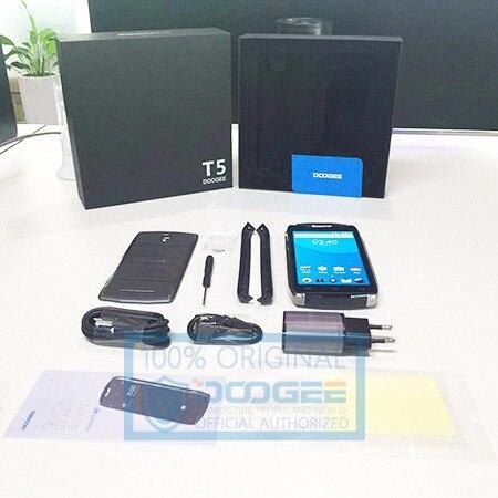 Doogee T5 טלפונים ניידים IP67 עמיד למים 5.0 Inch HD 3GB RAM+32GB ROM אנדרואיד 6.0 ה-SIM כפול MTK6753 אוקטה Core 13.0 MP 4500mAH WCDMA