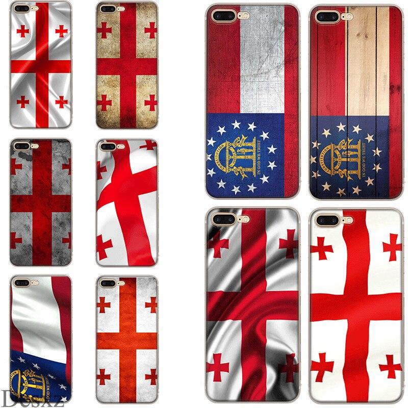 Чехол для телефона Грузия Гранж флаг чехол для iPhone 5 5S SE 6 6s 7 8 Plus X XS XR Макс оболочки
