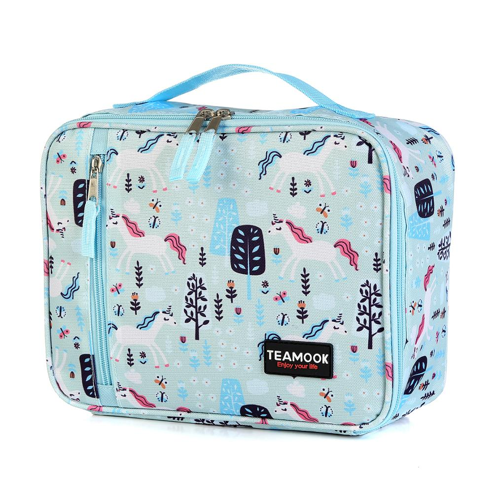 Unicorn Pattern Portable Lunch Box Bag Waterproof Picnic Travel Storage Thermal Insulated Fashion Lunch Bags For Women Kids Men