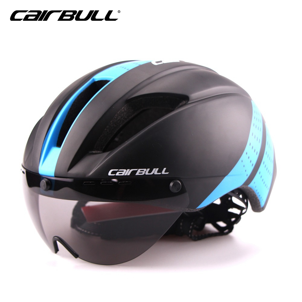 цены CAIRBULL road bike helmet with sunglasses mtb bicycle cycling helmet cycle helmets men women bycicle accessories 11 holes