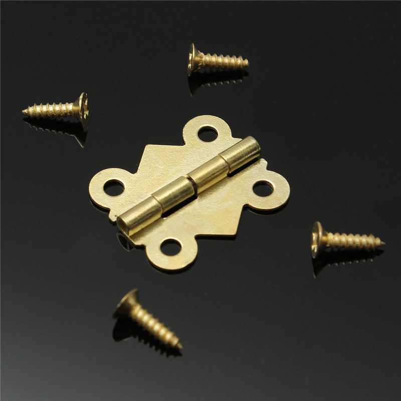 10pcs Gold Mini Butterfly Door Hinges Cabinet Drawer Jewellery Box Hinge Furniture Hinge s DIY Hardware Tools Mayitr 2pcs 90 degree concealed hinges cabinet cupboard furniture hinges bridge shaped door hinge with screws diy hardware tools mayitr