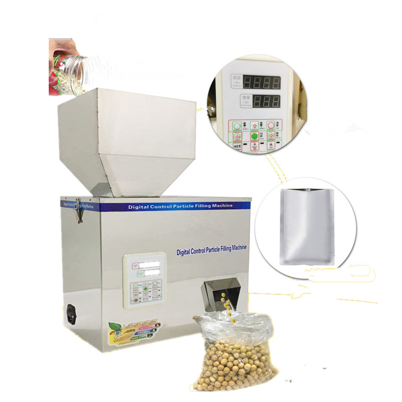 New style 10-500g tea Packaging machine sachet filling machine automatic weighing machine powder filler new 2 200g full automatic tea bag weighing filling packaging machine with back sealer