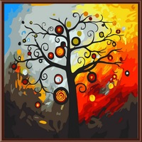 1Set Tree Of Life DIY Digital Oil Paintings By Numbers Frameless Canvas Abstract Handpainted For Home