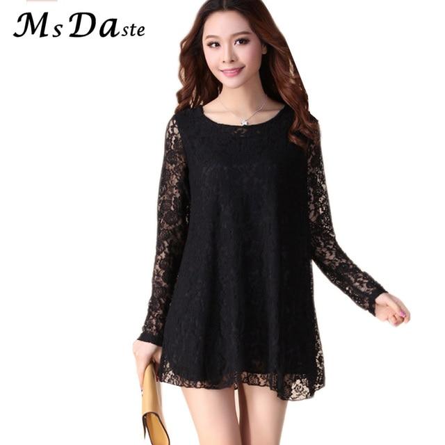 0ba972c0369fc 2018 New Lace Dress Women Flower Sexy Summer Woman Casual Dress Plus Size  Lady Vestidos Tunic Black