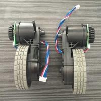 Original Left wheel with motor for robot vacuum cleaner Ecovacs Deebot DT85 DT83 robot Vacuum Cleaner Parts wheel motor
