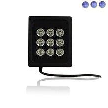 30 М расстояние ИК 850nm 9 Шт. 42mil Массив Infaraed светодиодные Лампы Заполняющего света водонепроницаемый Ночного Видения осветитель для CCTV Камеры безопасности