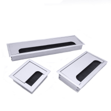 Aluminum Alloy Square Wire Hole Cover Desktop Computer Desk Threading Box  HVR88