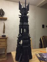 Free Shipping Lepin 16010 2430pcs Movie Series Lord Of The Rings Tower Of Orthanc Model Building
