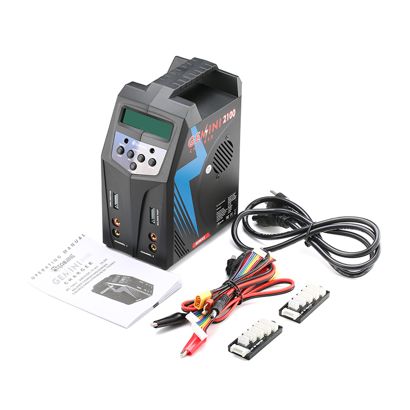 (In stock ) 2016 Hot New Eachine GEMINI 2100 AC/DC 2*80W Dual Balance Charger Discharger 1-6S for NiCd NiMH Lilo LiPo LiFe PB hot in stock s29gl512n10tfi02