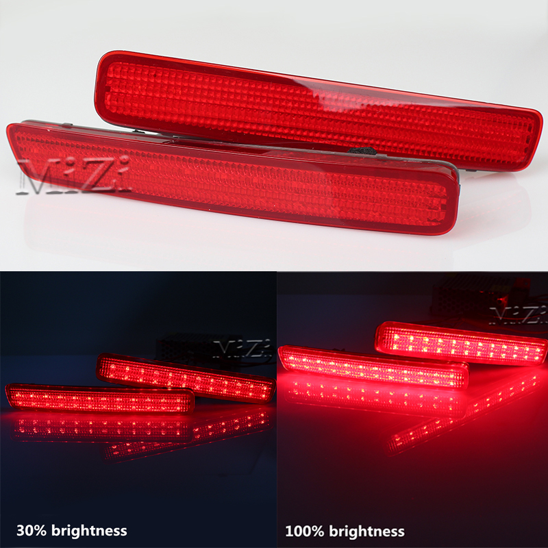 2PCS LED Rear Bumper Reflector <font><b>Tail</b></font> Brake Light Fog Lamp For TOYOTA NOAH VOXY 80 and Pruis 40 series 2011-2015 High Quality