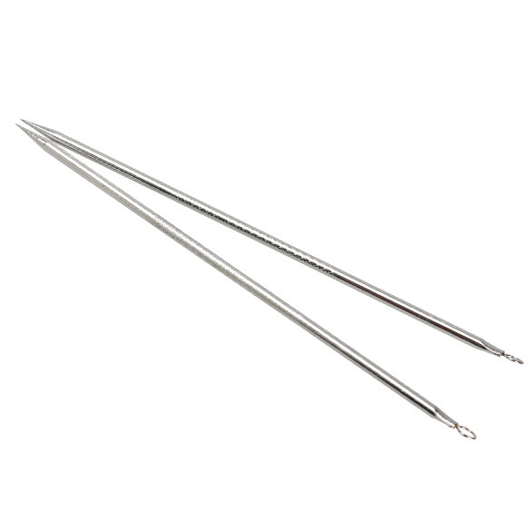 Stainless Steel 2pcs Silver Blackhead Comedone Remover Acne Blemish Pimple Extractor Tool H7JP 3