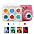 6 pcs colorido filmadora close-up colorido filtro de lente para fujifilm instax mini 9 8 8 7 s kt câmeras de filme instantâneo