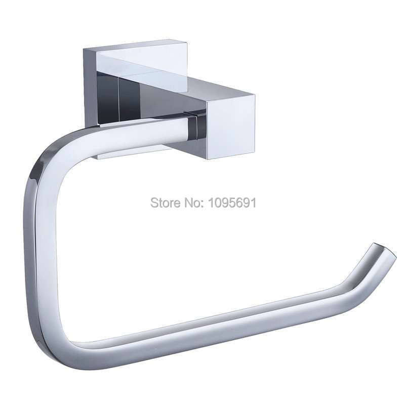 ФОТО Free Shipping Toilet Paper Holder,Roll Holder,Tissue Holder,Solid Brass Chrome Finished-Bathroom Accessories Products
