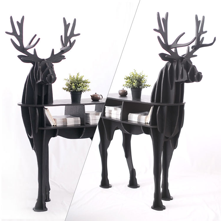 Wooden Deer home decor coffee table KING II self-built puzzle furniture new high end s size lookback reindeer table wooden home furniture self build puzzle furniture