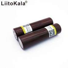 liitokala 100% NEW For LG HG2 18650 3000mah Electronic cigarette, rechargeable battery, 20A, high power discharge 2pcs