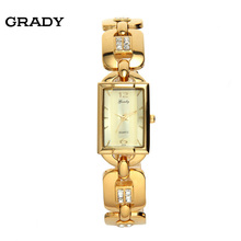 Грейди часы женщины наручные часы Люксовый бренд 22 К золотые часы мода стиль кварца япония 5atm водостойкий