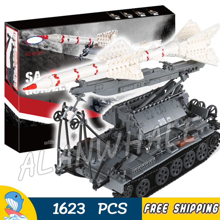 1623pcs SA-2 Russian Multiple Rocket Launchers Guideline Missile Tank 06003 Model Building Blocks Toy Brick Compatible With Lego