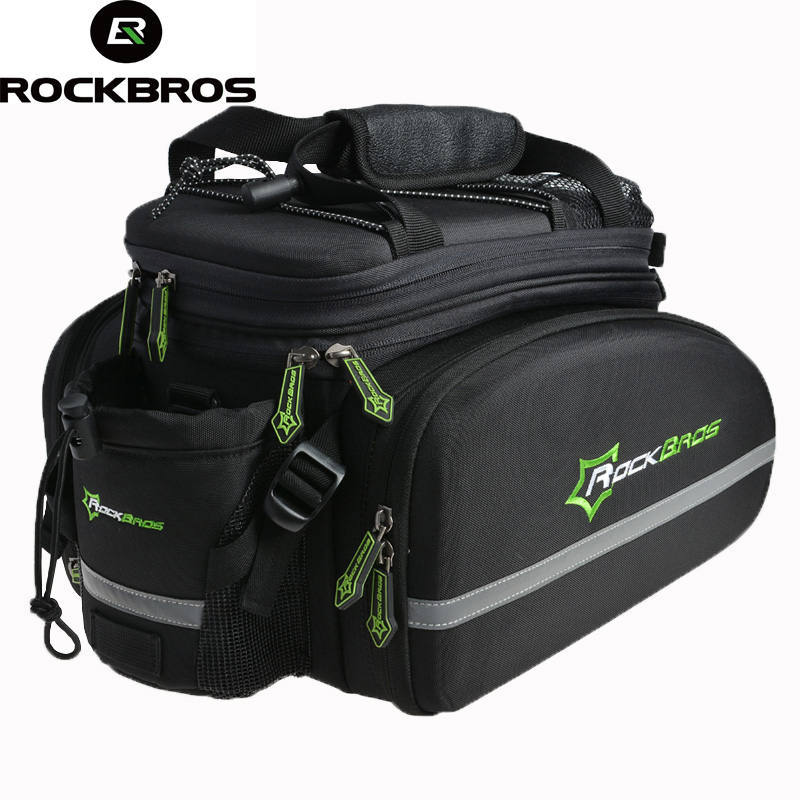 ROCKBROS Cycling Rear Saddle Pack Bag Bicicleta Multi-fonction Bags Bike Bicycle Rear Carrier Bags Rear Pack Trunk Pannier стоимость