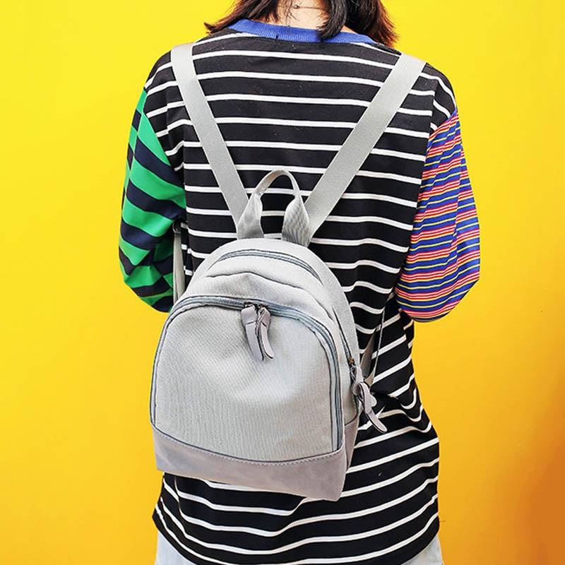 Women Canvas Backpack Shoulder School Students Grils Bag Travel Rucksacks LBY2017