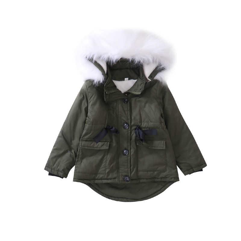 17f7b2917513 3-11 years old Girls winter coat Kids Faux Fur Collar Coat Children Winter  Outwear