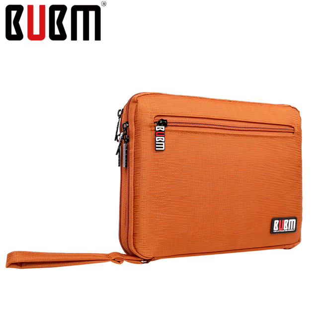 BUBM Carry Case Sleeve Pouch for iPad with case Tablet bag single double layer multicolor with without handle USB