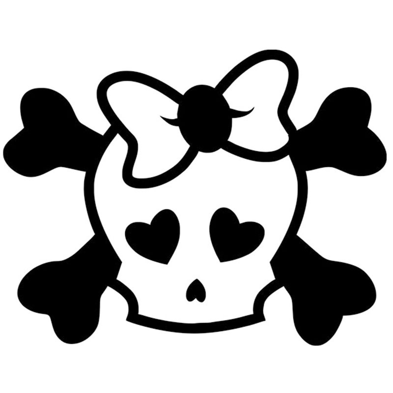 Compare Prices On Girl Skull Decal Online ShoppingBuy Low Price - Car sticker decal for girls