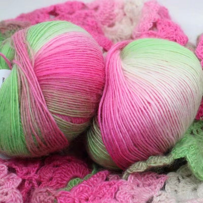 High Quality 50g/ball 180 meters 100% Merino Wool Crochet Yarn Thick For Hand Knitting Rainbow Space Dyed Baby Yarns Wool Thread Yarn  - AliExpress