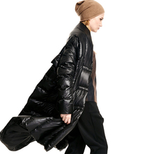 [XITAO] 2016 European high-end personality women white duck down coat female long sleeve thick keep warm asymmetric length FY003